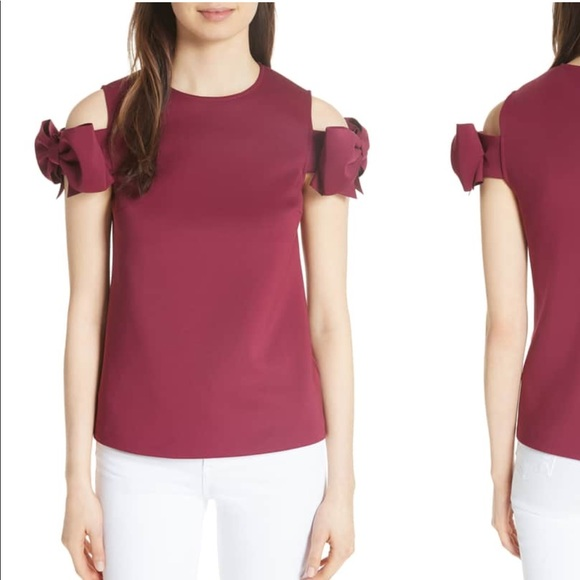 6f4aef6843ba2f Ted Baker mendoll bow sleeve cold shoulder top